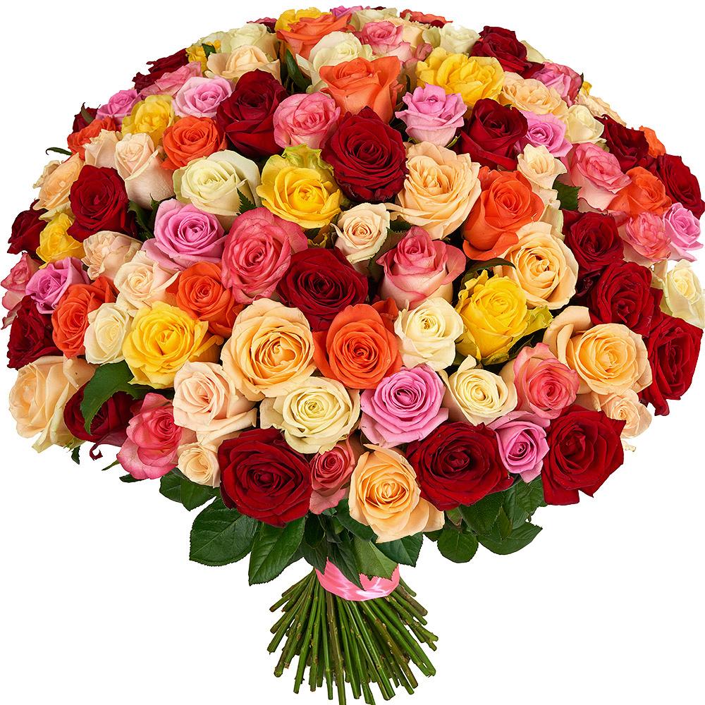 Большая открытка с цветами с днем рождения